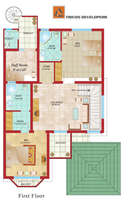 10 Marla House Maps