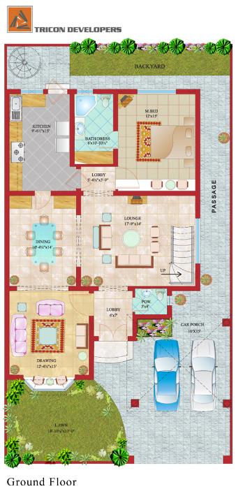8 marla house plan layout