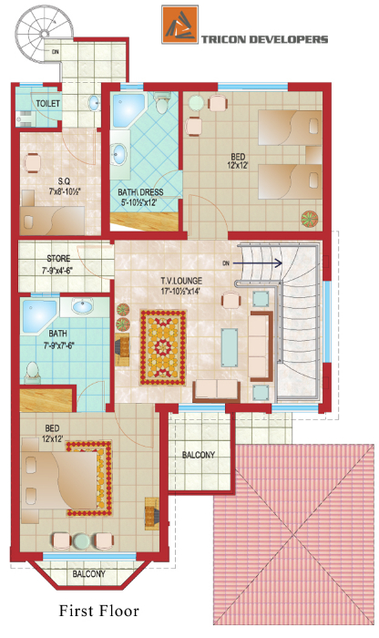 8 Marla House Floor Plan