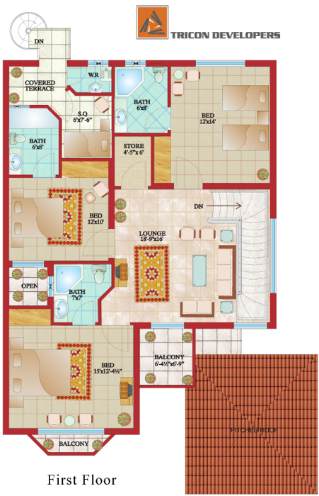 House_floor_plan_in_pakistan on Passive Solar Ranch House Floor Plans